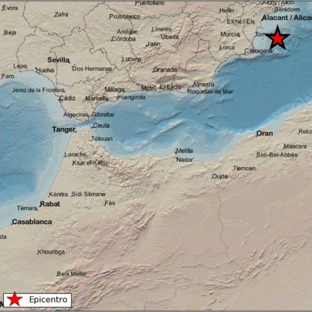 Un terremoto de 3,6 grados se siente en varias localidades de Alicante