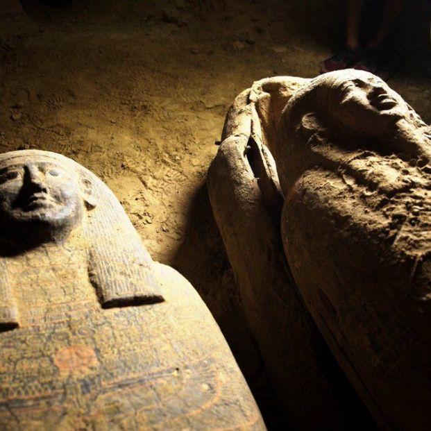Descubren en Egipto 13 sarcófagos sellados en perfecto estado de conservación