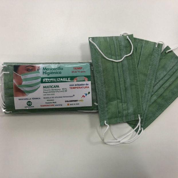 EuropaPress 3305453 mascarilla desarrollada tejido cambia color aumento fiebre