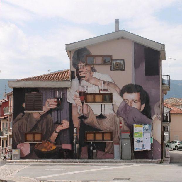 Arte urbano contra la despoblación en Hervás