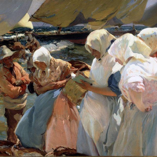 'Sorolla. Femenino Plural', una exposición con obras poco conocidas de colecciones particulares. Obra: Pescadoras valencianas