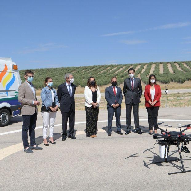 Demostración asistencia sanitaria dron centro atlas