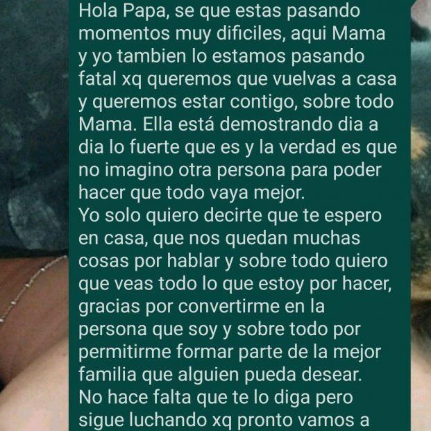 Comparte el último WhatsApp que envió a su padre antes de morir