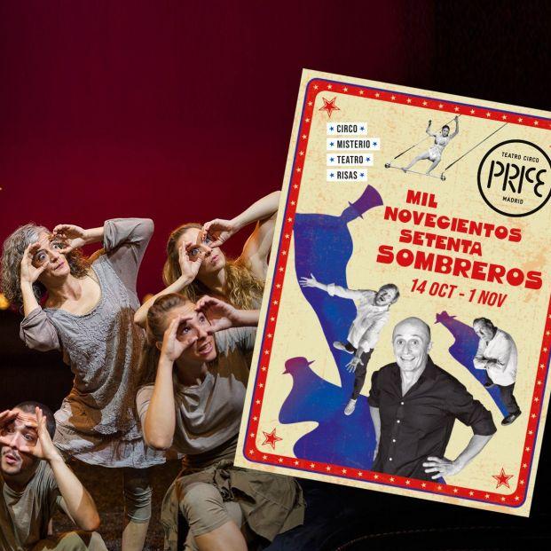 Homenaje al circo en el Price con 'Mil novecientos setenta sombreros' y Pepe Viyuela