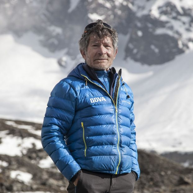 Carlos Soria en una expedición anterior (Foto de BBVA)