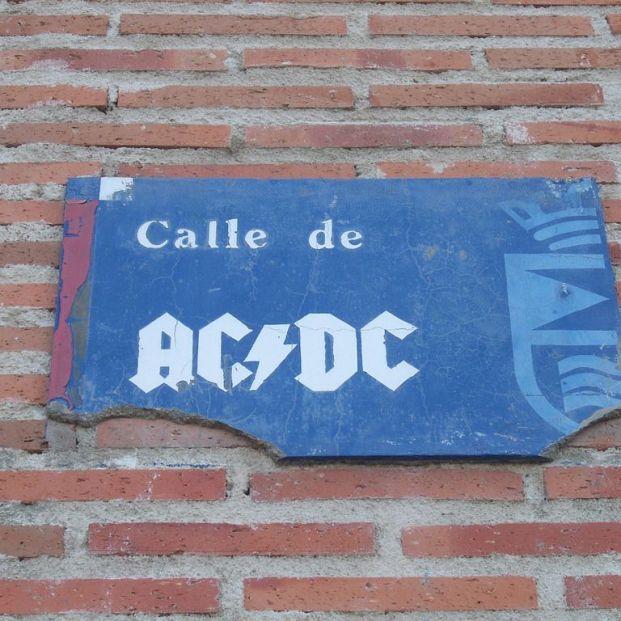 Placa Calle ACDC