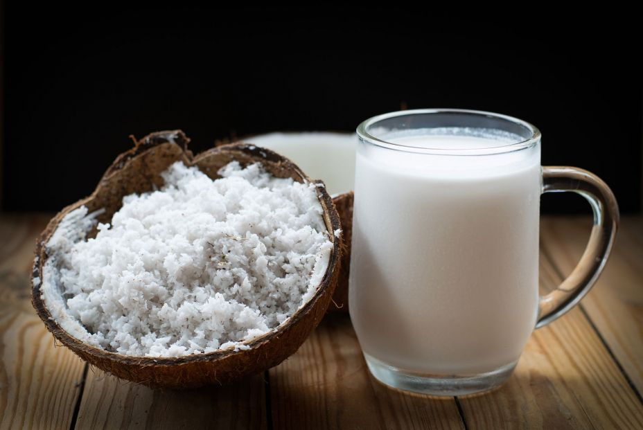 bigstock Coconut And A Glass Of Coconut 367404283