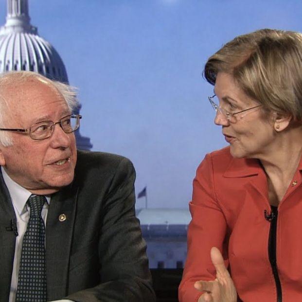 Los candidatos a las primarias demócratas Sanders y Warren en televisión (YouTube)