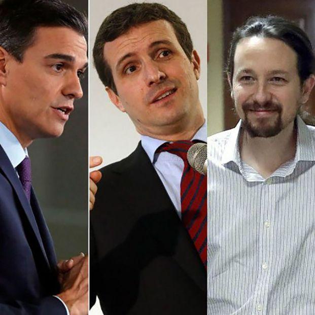 Logos de los partidos. 28A: Los líderes de los partidos rejuvenecen