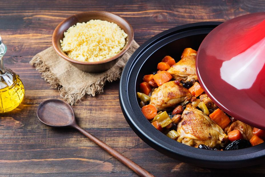 bigstock Tagine with cooked chicken and 119902538