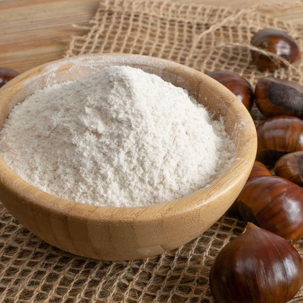 bigstock Chestnut Flour With Edible Swe 349340128