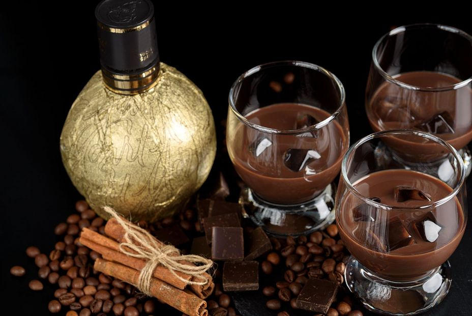 bigstock Chocolate Coffee Liqueur In G 270979459