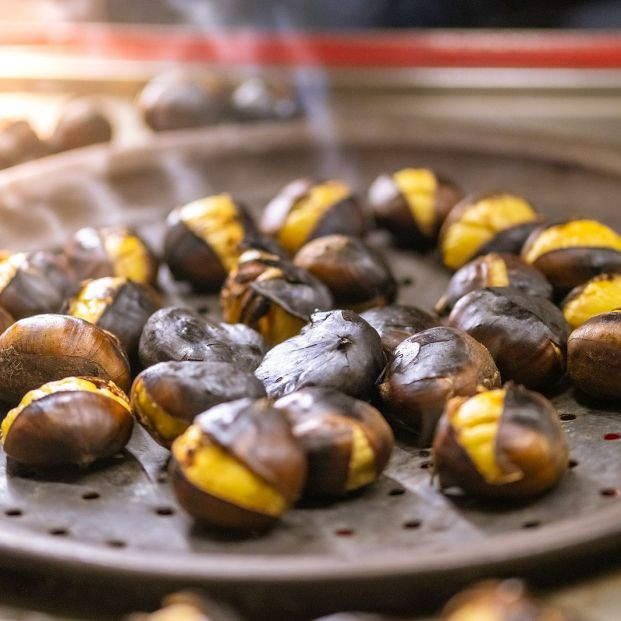 bigstock Close Up Of Roasted Chestnuts  341652409