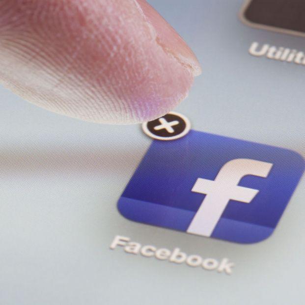 Icono app de Facebook tras eliminar tu cuenta (BigStock)