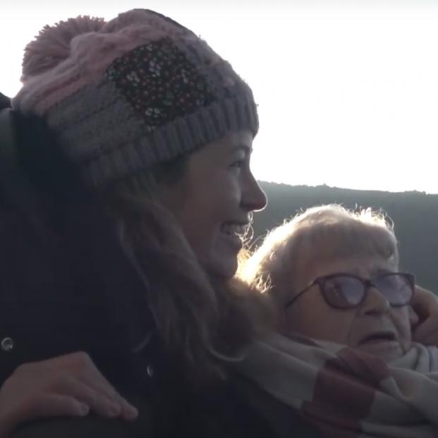 El liberador viaje en globo de Carme a los 91 años
