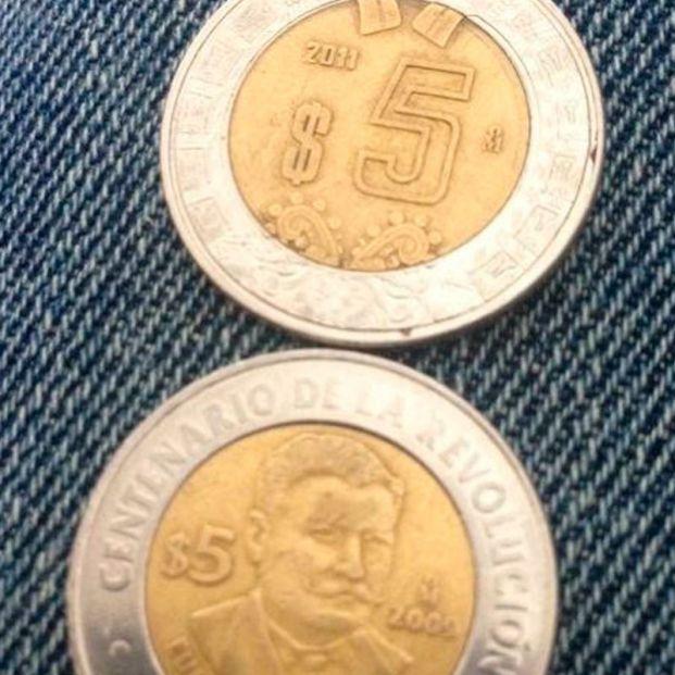 Pesos mexicanos que parecen euros