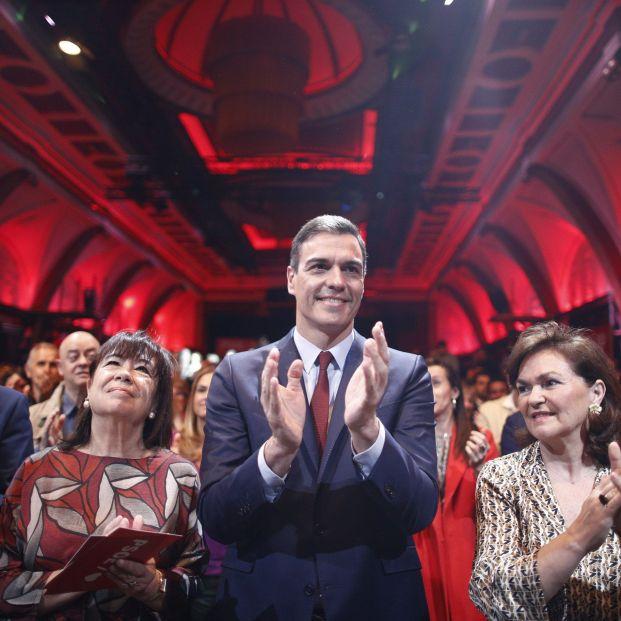 Pedro Sánchez en la presentación del programa electoral del PSOE