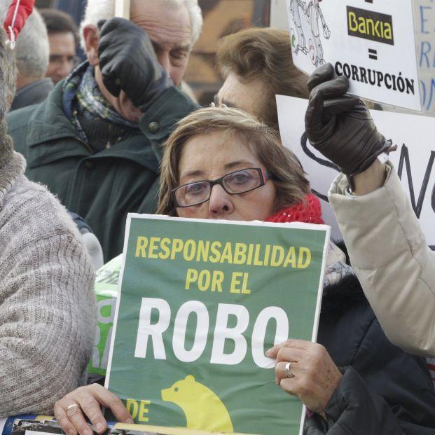 Protesta de afectados por las preferentes en el año 2014.