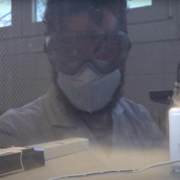 Desarrollan un sistema para la detección directa del coronavirus en el aire