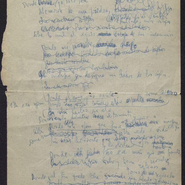 El manuscrito de 'Donde habite el olvido' de Luis Cernuda llega a la Biblioteca Nacional