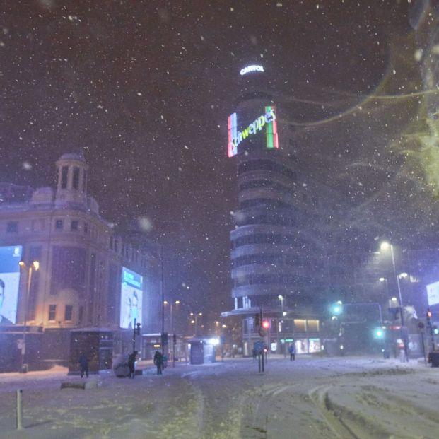EuropaPress 3509353 gran via cubierta nieve paso borrasca filomena madrid espana enero 2021la