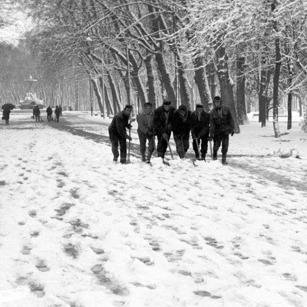El precedente de 'Filomena': las imágenes de la gran nevada en Madrid de 1971