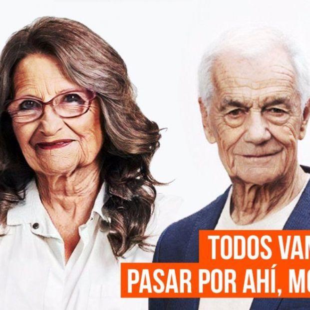 Ciudadanos envejece a Oltra y a Cantó en una campaña para exigir más protección a los mayores