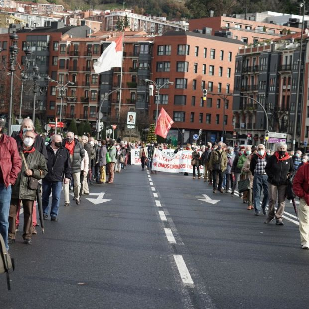 Marcha de pensionistas (H.Bilbao / Europa Press)