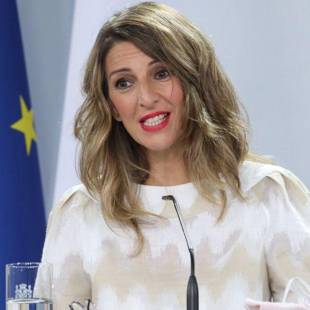 Yolanda Díaz advierte de que no apoyarán ampliar el periodo de cálculo de las pensiones