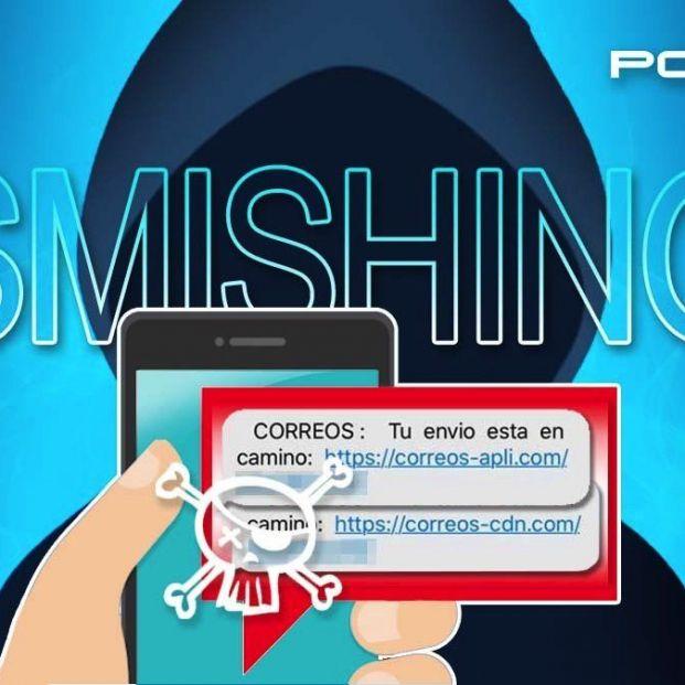 La Policía alerta de una campaña de SMS falsos que suplantan a Correos