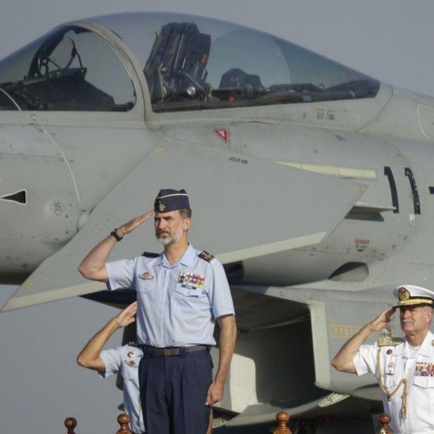 El Rey Felipe II en la Base compartida entre España y Estados Unidos de Morón (Europa Press)