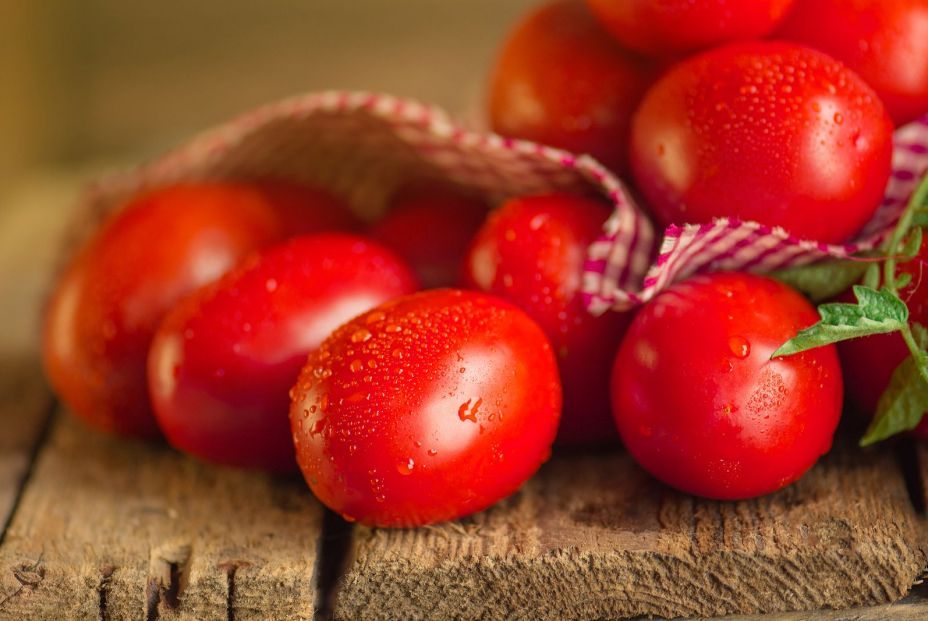 bigstock Long Plum Tomatoes With Checke 375130945