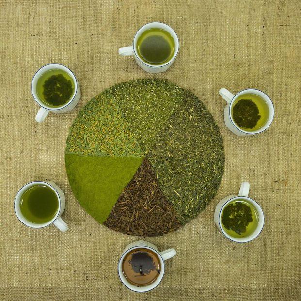 Ocho tipos diferentes de té verde