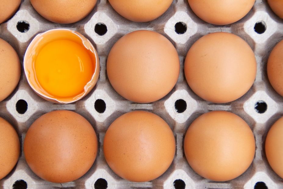 bigstock Brown Chicken Eggs Are In A Pa 346909114