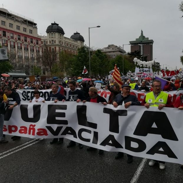 Manifestación la España Vaciada en Madrid contra la despoblación