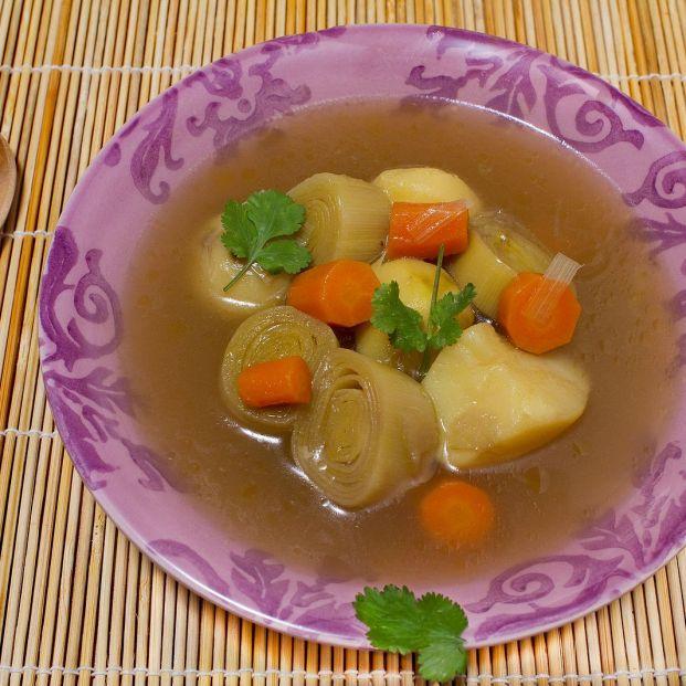 La porrusalda es un plato sencillo, saludable y rápido de preparar Foto: bigstock
