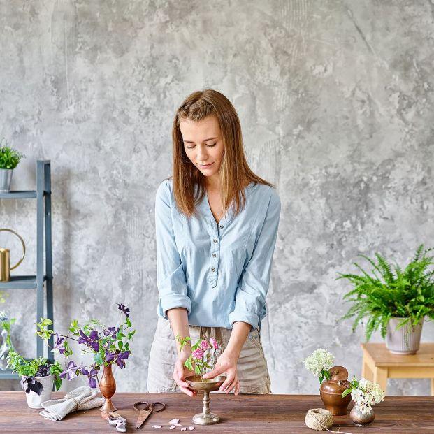 Gestiona tu estrés creando arreglos florales de estilo japonés Foto: bigstock