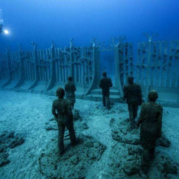 El Mediterráneo ya tiene su primer museo submarino Foto: https://www.underwatersculpture.com/