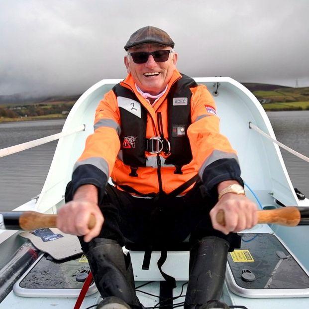 Frank Rothwell establece un récord mundial al lograr cruzar el Atlántico a remo a sus 70 años. Foto Frank Rothwell's Atlantic Challenge 2020