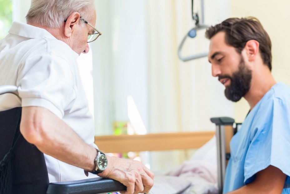 bigstock Elderly care nurse helping sen 243777571