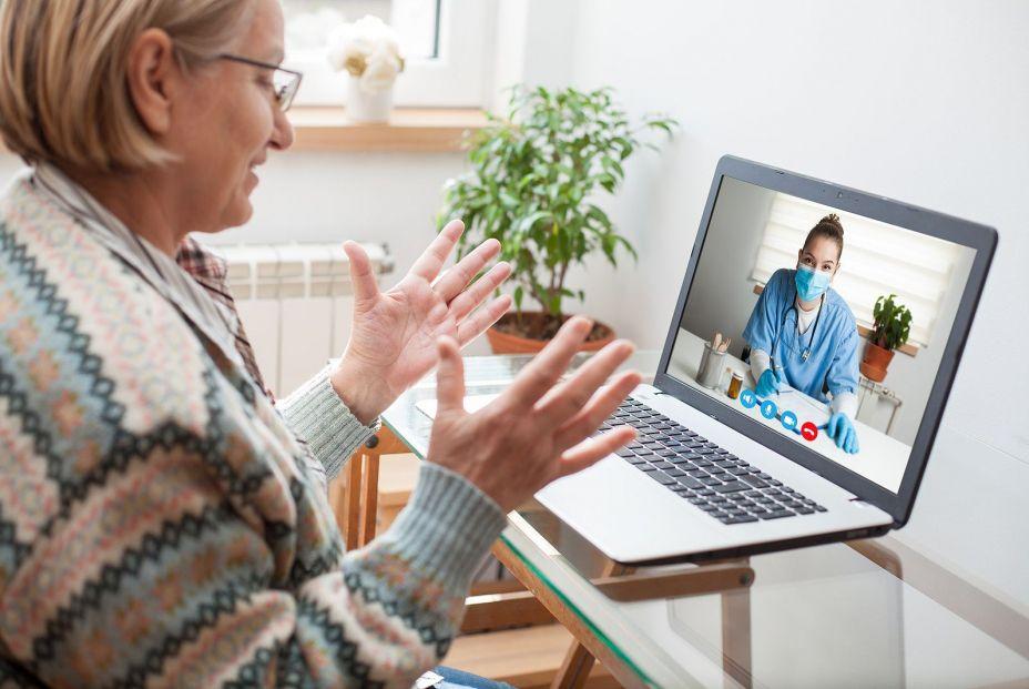 bigstock Elderly Caucasian Woman Intera 394455017