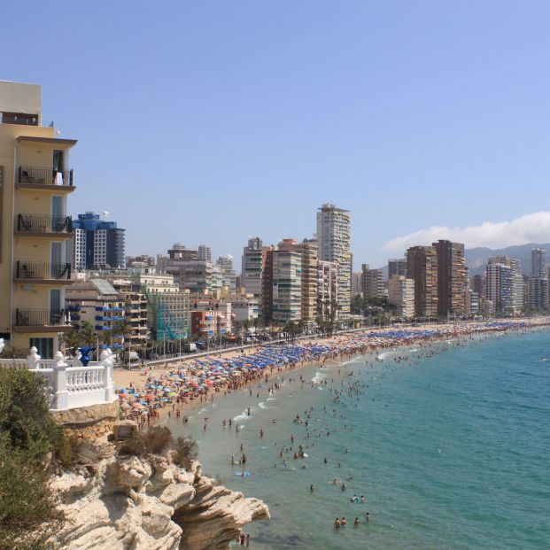 Playa de Levante, en Benidorm (Creative commons)