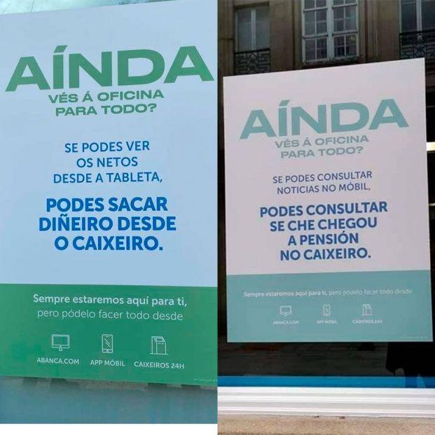 Abanca retira una campaña edadista que pedía a los mayores dejar de acudir a las oficinas