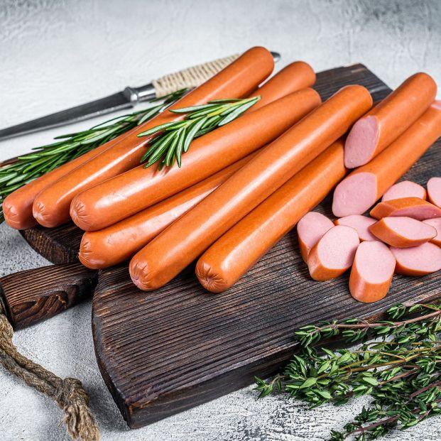 ¿Qué contienen las salchichas de frankfurt?