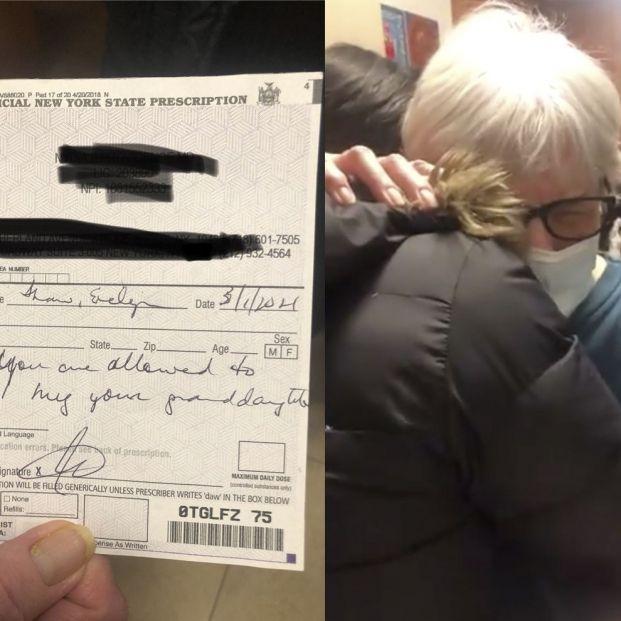 Una médico receta a una abuela ya vacunada del Covid volver a abrazar a sus nietos