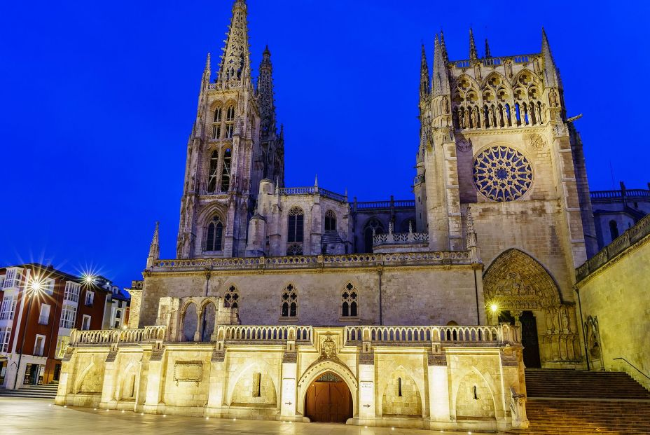 bigstock Gothic Cathedral Of Burgos At  410472718