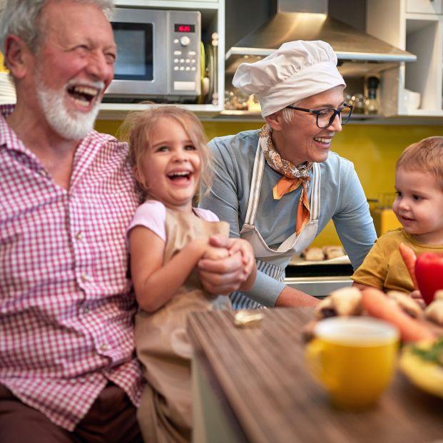 Los niños echan de menos a sus abuelos