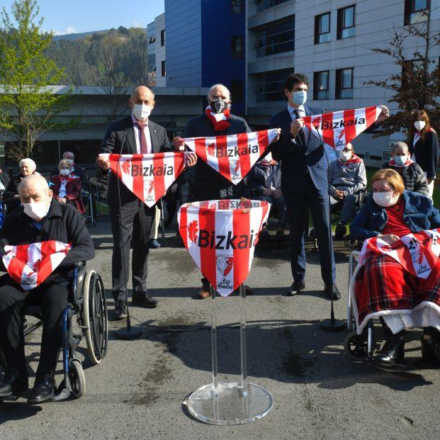 Las residencias de Vizcaya celebrarán de rojiblanco las dos finales de Copa del Athletic
