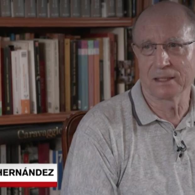 Ángel Hernández en una entrevista en La Sexta