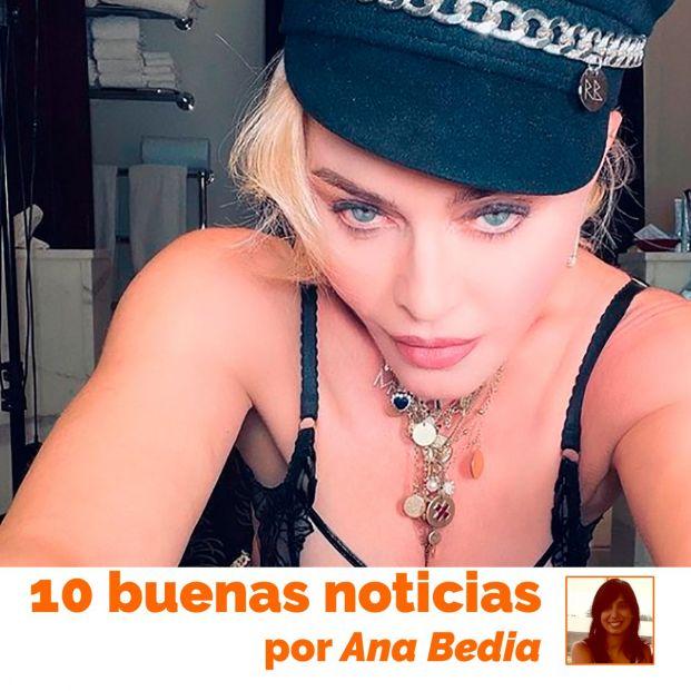 Las 10 buenas noticias de hoy 31 de marzo: Las apropiadas fotos de Madonna a los 62 años